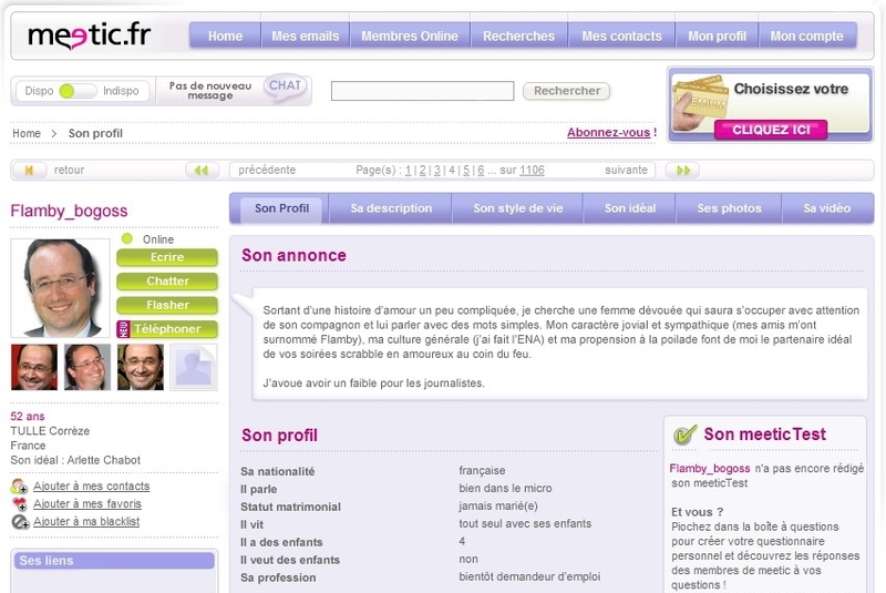 Meetic profil